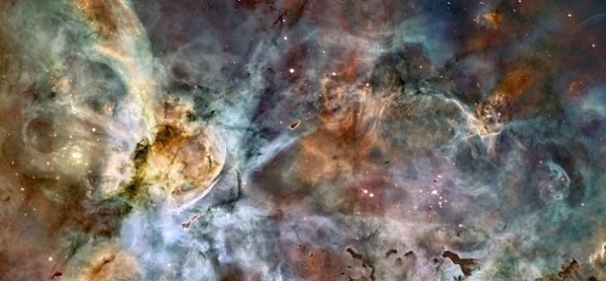 Triakis icosahedron, fdecomite & Carina Nebula, Steve Black